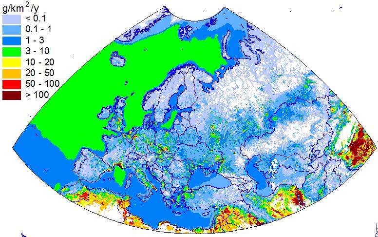 Cd natural emissions
