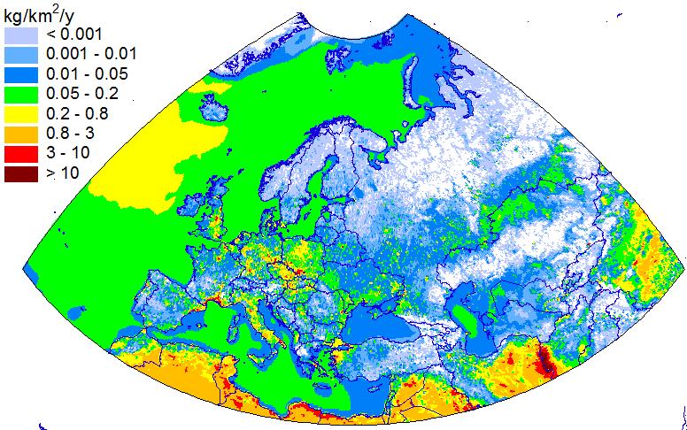 Pb natural emissions